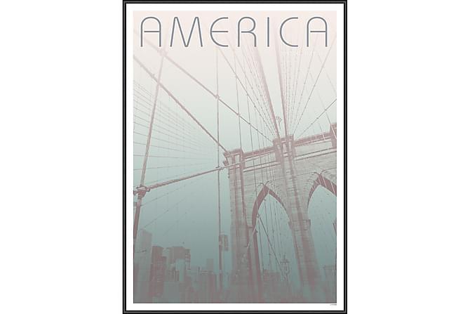 Brooklyn Bridge Taulu - 50x70 cm - Sisustustuotteet - Seinäkoristeet - Taulut & taide