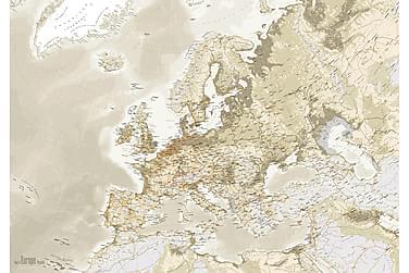 Canvastaulu Euro Kartta Vintage