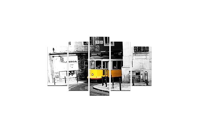 Koristeellinen MDF Maalaus (5 kpl) - Sisustustuotteet - Seinäkoristeet - Taulut & taide