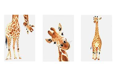 Taulu Funny Giraffes 3 Parts 60x30