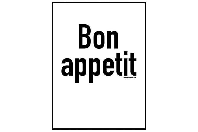Juliste Bon Appetit - Saatavilla useita kokoja - Sisustustuotteet - Seinäkoristeet - Julisteet