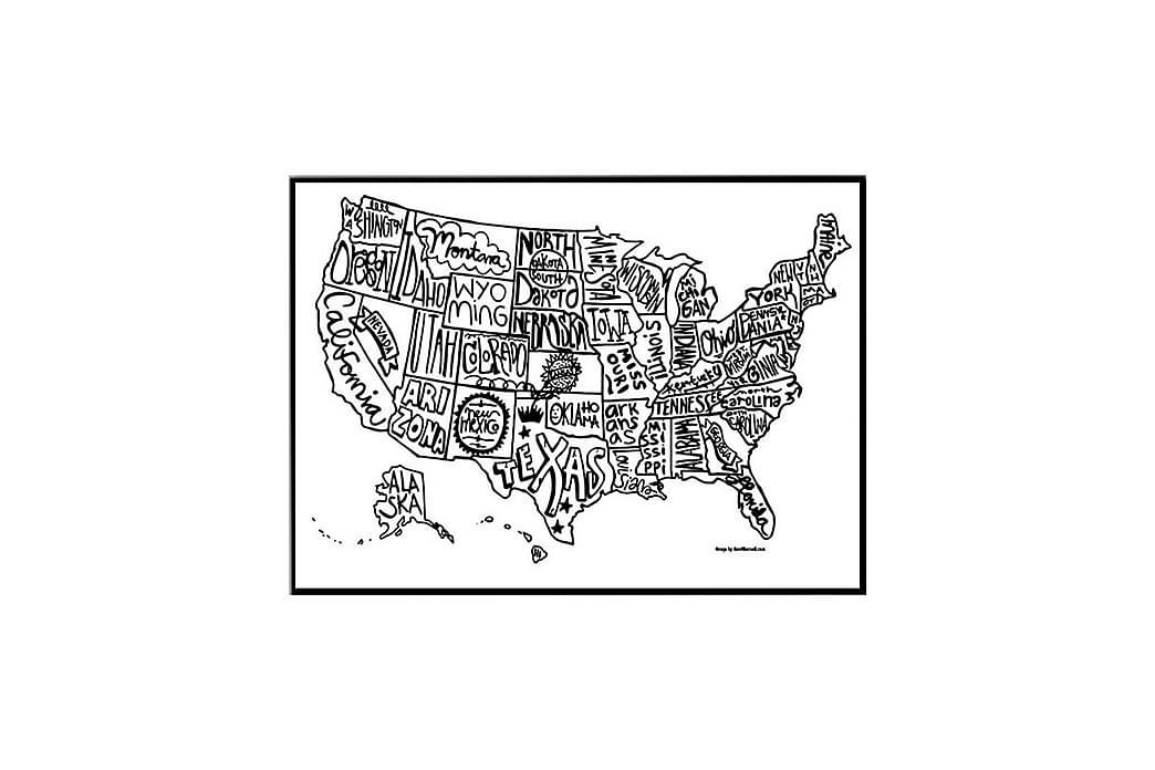 Juliste USA kartta - Saatavilla useita kokoja - Sisustustuotteet - Seinäkoristeet - Julisteet