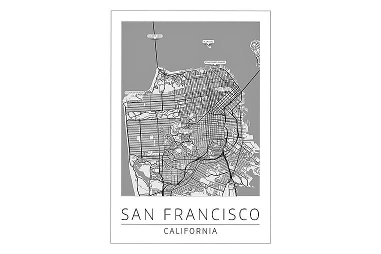 San Francisco Kaupunkikartta Juliste - 50x70 cm - Sisustustuotteet - Seinäkoristeet - Julisteet