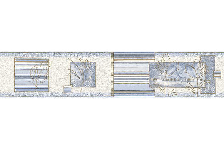 AS Creation Boordi Only Paperi Sininen Kulta Valkoinen - AS Creation - Sisustustuotteet - Tapetit - Kuviolliset tapetit