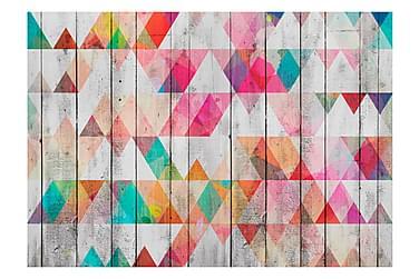 Valokuvatapetti Rainbow Triangles 150x105