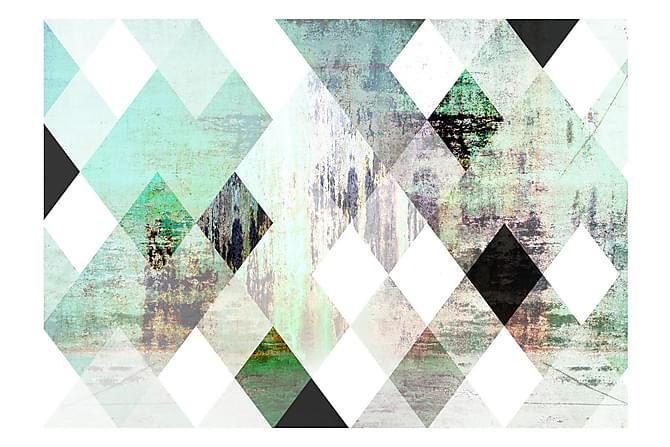 Valokuvatapetti Rhombic Chessboard Green 100x70 - Sisustustuotteet - Tapetit - Valokuvatapetit