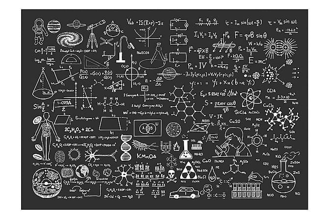 Valokuvatapetti Science On Chalkboard 100x70 - Sisustustuotteet - Tapetit - Valokuvatapetit