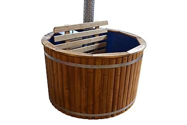 Kylpytynnyri sisäpuolisella kamiinalla Ø180