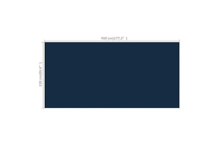Kelluva uima-altaan PE-aurinkoenergiakalvo 450x220 cm - Musta - Uima- & porealtaat - Uima-allastarvikkeet - Allassuojat & -vuorit