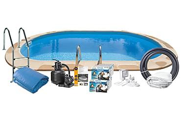 Upotettava uima-allas Teräs 800x400x120