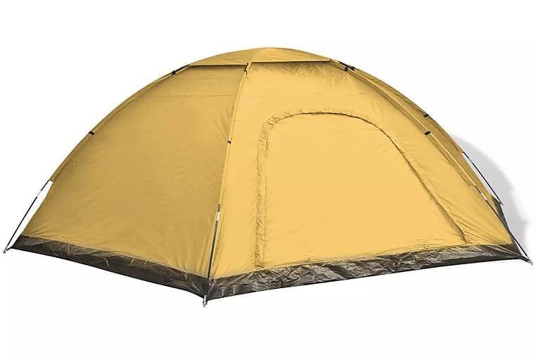 6 hengen teltta sininen ja keltainen - Sininen - Urheilu  & vapaa-aika - Retkeily & vaellus - Teltat