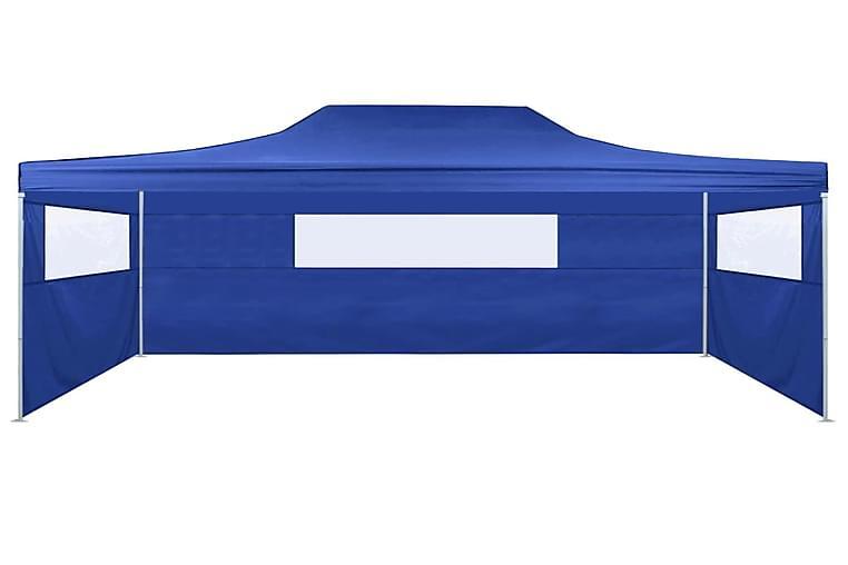 kokoontaitettava teltta 3:lla seinällä 3x4,5 m sininen - Sininen - Urheilu  & vapaa-aika - Retkeily & vaellus - Teltat