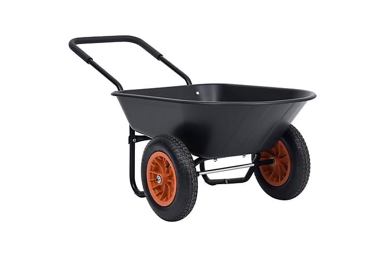 Kottikärry musta ja oranssi 78 l 100 kg - Urheilu  & vapaa-aika - Ulkoilu - Polkupyörät