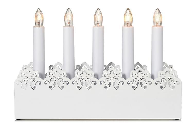 Kynttelikkö Prince 5L Valkoinen - Markslöjd - Valaistus - Jouluvalaistus - Kyntteliköt