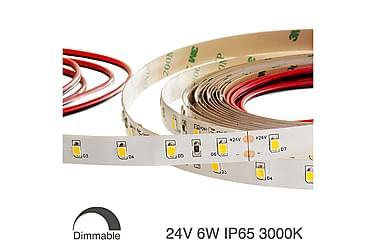 LED-nauha White Premium 24V, 6W, IP65, 3000K