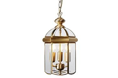 Bevel Lyhty 3L LED Lasi Domed Messinki