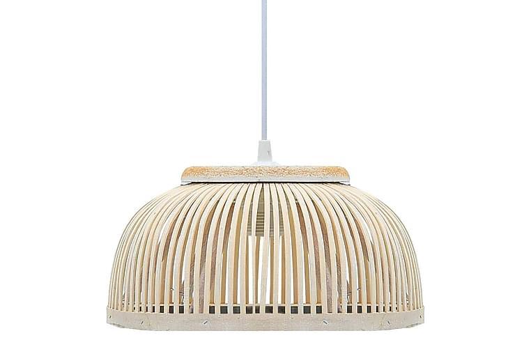 Riippuvalaisin bambu 40 W 37x15,5 cm puolipyöreä E27 - Valkoinen - Valaistus - Sisävalaistus & lamput - Kattovalaisimet