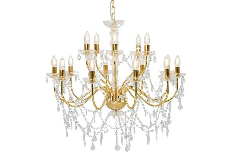 Kattokruunu 2-tasoinen kultainen 15 x E14 polttimot - Kulta - Valaistus - Sisävalaistus & lamput - Kristallikruunut & kattokruunut