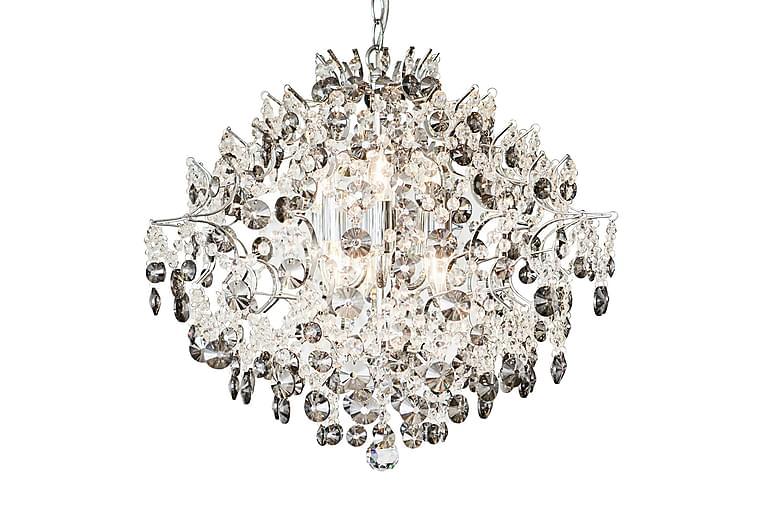 Kristallivalaisin Hidden Gem 6L - Kromi/Kirkas/Savu - Valaistus - Sisävalaistus & lamput - Kristallikruunut & kattokruunut