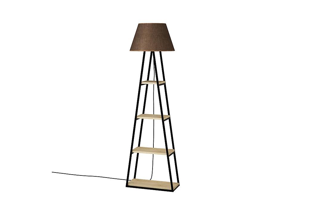 Lattiavalaisin Lindome 45 cm - Ruskea/Musta - Valaistus - Sisävalaistus & lamput - Lattiavalaisimet
