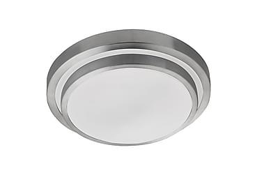 Bathroom LED IP44 2 Tier Flush Aluminium/Valkoinen