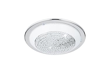 Plafondi Acolla LED 37 cm Kromi/Valkoinen/Kirkas/Lasi
