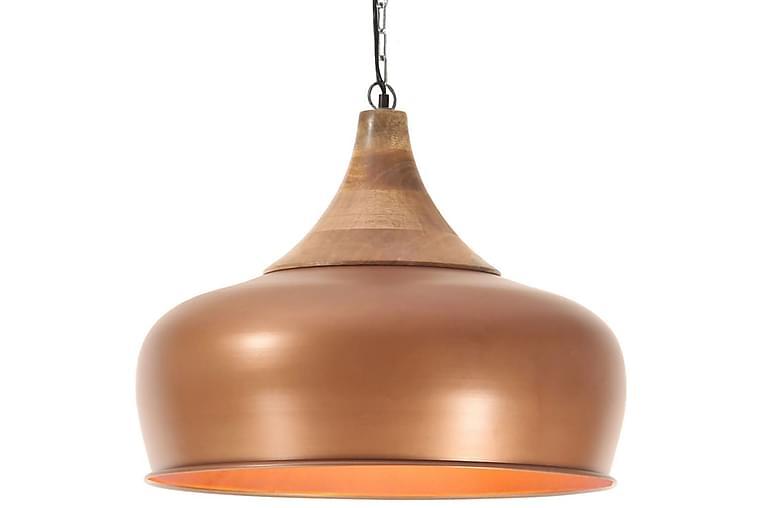 Teollinen Riippuvalaisin kupari rauta ja täysi puu 45 cm E27 - Ruskea - Valaistus - Sisävalaistus & lamput - Riippuvalaisimet