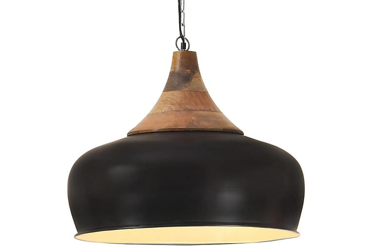 Teollinen Riippuvalaisin musta rauta ja täysi puu 45 cm E27 - Musta - Valaistus - Sisävalaistus & lamput - Riippuvalaisimet