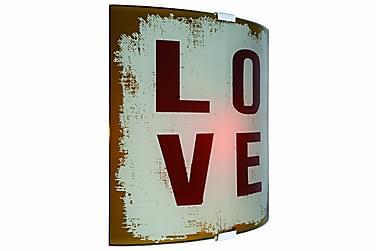 Seinävalaisin Love Kuvioitu