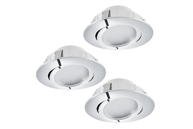 LED-spotti Pineda upotettu 3-pak Kromi - Eglo - Valaistus - Sisävalaistus & lamput - Spottivalaisimet & alasvalot