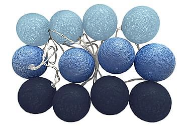 Valosarja Blue Indigo 12 palloa + Paristorasia Sininen