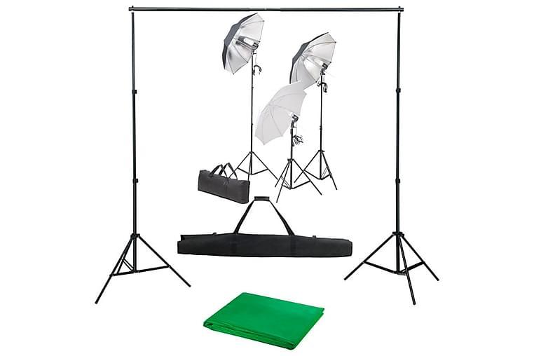 Valokuvastudiosarja valosarjalla ja taustakankaalla - Valaistus - Sisävalaistus & lamput - Valokuvavalaistus & studiovalaisime