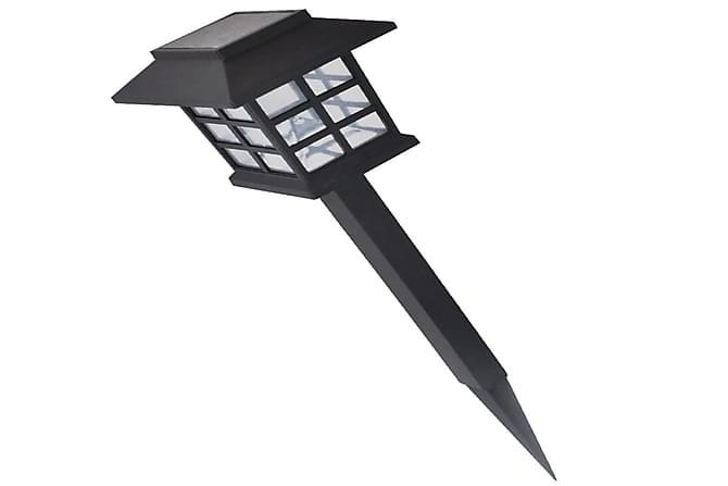 Aurinkovoimalla Toimiva LED Ulkovalosarja 12kpl 8,6x8,6x38cm - Musta - Valaistus - Ulkovalaistus - Ulkovalaisimet