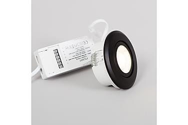 LED-alasvalo Pallas, himmennettävä, 6W, 450lm, 3000K, musta